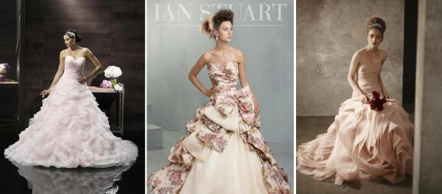 Left to right: Moonlight Collection, Ian Stuart Bride, Vera Wang